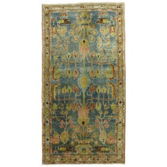 Antique Persian Malayer Colorful Throw Rug
