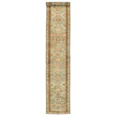 Antique Persian Malayer Design Runner Rustic Georgian Arts & Crafts Style