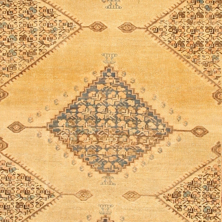 Antique Persian Malayer Rug, Origin: Persia, Circa: 1900. Size: 5 ft 4 in x 11 ft 10 in (1.63 m x 3.61 m)  This beautiful antique rug — a wonderful antique Malayer Persian rug made in Persia some time around the turn of the twentieth century — is