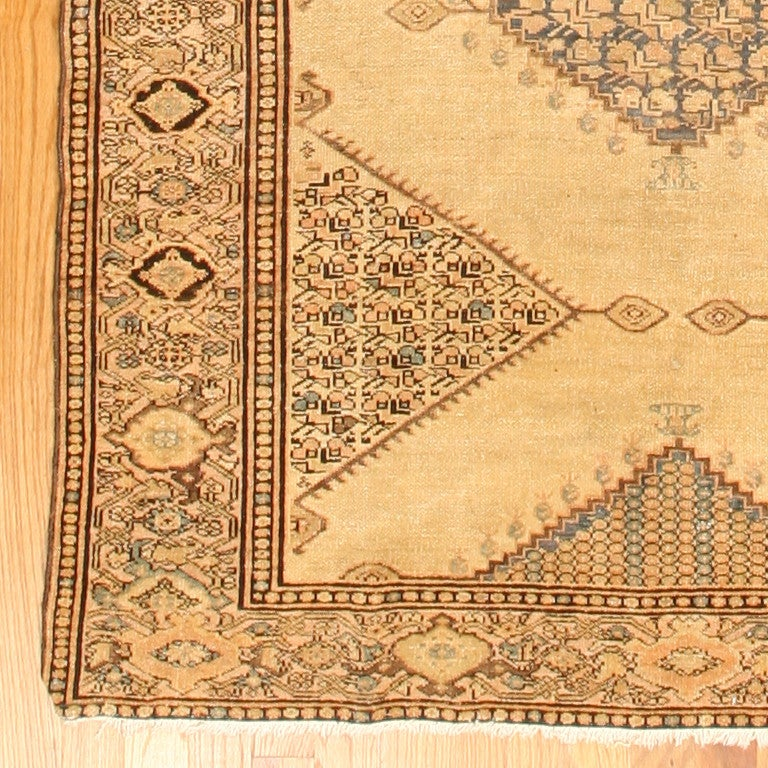 Hand-Knotted Antique Persian Malayer Gallery Carpet. Size: 5 ft 4 in x 11 ft 10 in For Sale