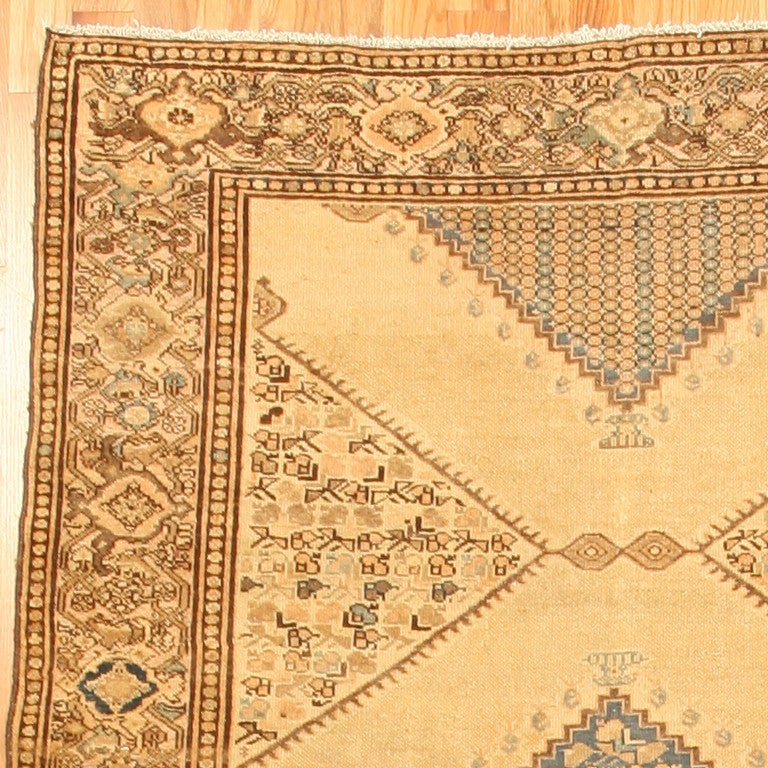 Wool Antique Persian Malayer Gallery Carpet. Size: 5 ft 4 in x 11 ft 10 in For Sale