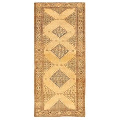 Antique Persian Malayer Gallery Carpet. Size: 5 ft 4 in x 11 ft 10 in
