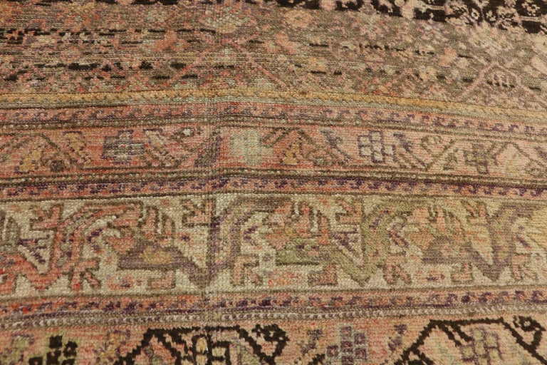 Antique Persian Malayer Gallery Rug with Herati Design, Long Living Room Rug In Good Condition For Sale In Dallas, TX