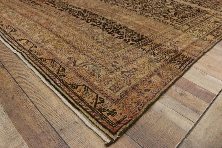 20th Century Antique Persian Malayer Gallery Rug with Herati Design, Long Living Room Rug For Sale