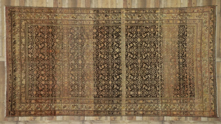 Antique Persian Malayer Gallery Rug with Herati Design, Long Living Room Rug For Sale 2