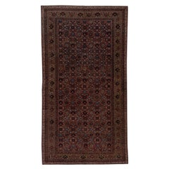 Antique Persian Malayer Gallery Rug with Warm Tones Herati Pattern, circa 1920s