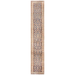 Antique Persian Malayer Hallway Runner Rug. Size: 3 ft 2 in x 16 ft 10 in