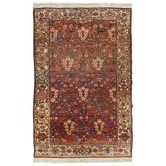 Antique Persian Malayer Hand Knotted Rug