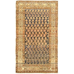 Antique Persian Malayer Oriental Rug, in Small Size, with Varying Paisley Design