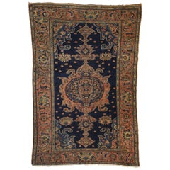 Antique Persian Malayer Rug for Entry, Kitchen, Foyer, or Bathroom