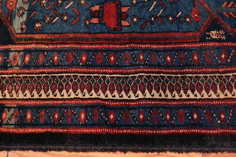 Breathtaking Small Size Antique Persian Malayer Rug, Country of Origin / Rug Type: Persian Rug, Circa Date: 1900 - Size: 4 ft 7 in x 6 ft 5 in (1.4 m x 1.96 m).