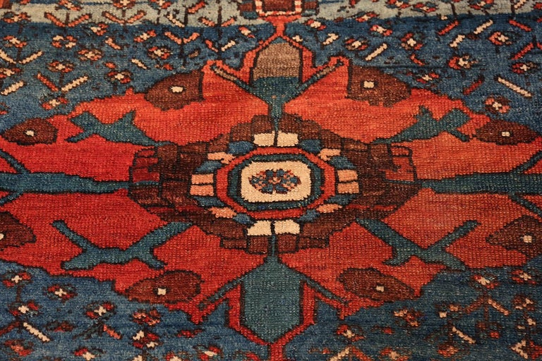 Hand-Knotted Antique Persian Malayer Rug. Size: 4 ft 7 in x 6 ft 5 in For Sale