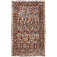 Antique Persian Malayer Rug with Colorful All-Over Geometric Design