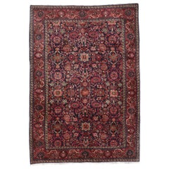 Antique Persian Malayer Rug with Regal Victorian Style