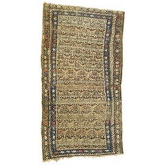 Antique Persian Malayer Rug with Rustic Farmhouse Style