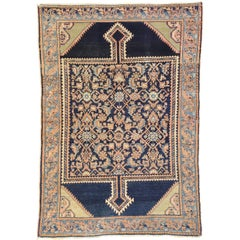 Antique Persian Malayer Rug with Rustic Romantic Georgian Style