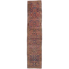 Antique Persian Malayer Runner, Extra-Long Hallway Runner