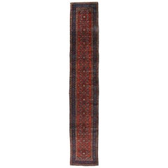 Antique Persian Malayer Long Runner with Elizabeth Tudor Style