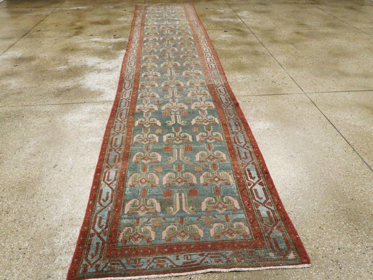 Antique Persian Malayer Runner In Excellent Condition For Sale In New York, NY