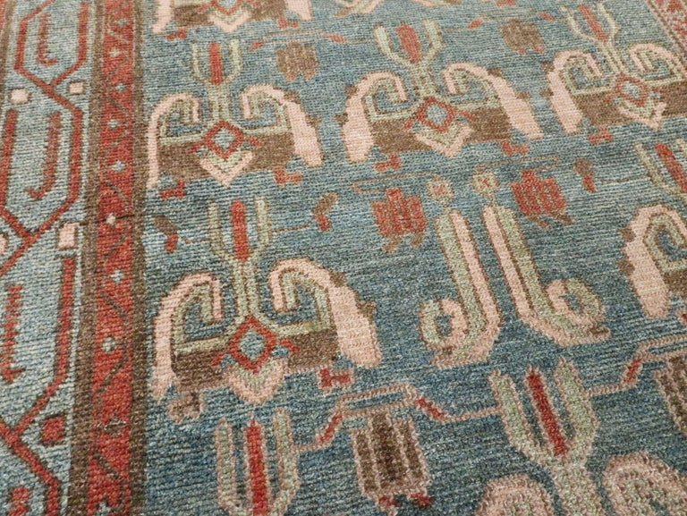 Wool Antique Persian Malayer Runner For Sale