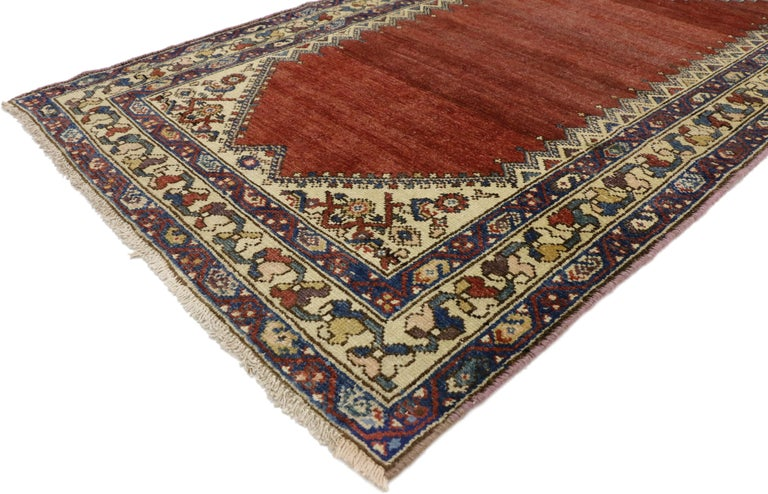 Wool Antique Persian Malayer Runner, Hallway Runner For Sale