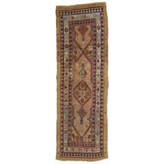 Antique Persian Malayer Runner, Tribal Style Hallway Runner
