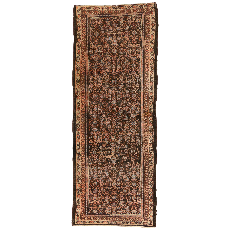 Antique Persian Malayer Runner, Wide Hallway Carpet Runner