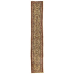 Antique Persian Malayer Runner with Mid-Century Modern Style, Extra-Long Runner