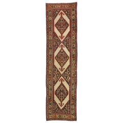 Antique Persian Malayer Runner with Tudor Manor House Style