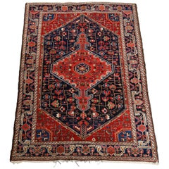 Antique Persian Malayer Wool Oriental Rug, circa 1930