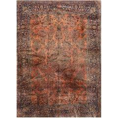 Antique Persian Manchester Kashan Rug