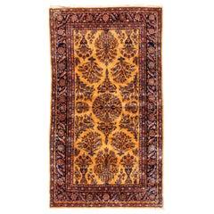 Antique Persian Manchester Wool Kashan Carpet, circa 1880-1900
