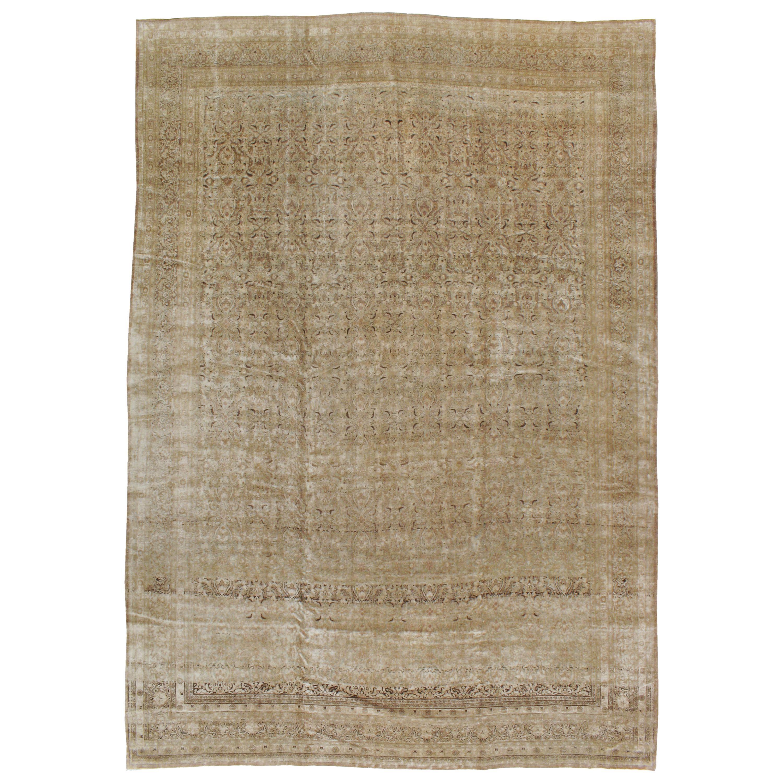 Antique Persian Mashad Carpet