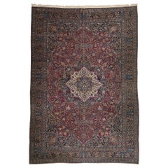 Antique Persian Mashhad Palace Rug with Old World Luxe Victorian Style