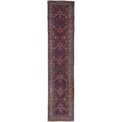 Antique Persian Mashhad Runner, Traditional Hallway Runner