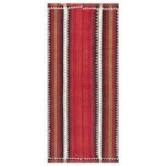 Antique Persian Moj Kilim Flatweave. Size: 4 ft x 9 ft (1.22 m x 2.74 m)