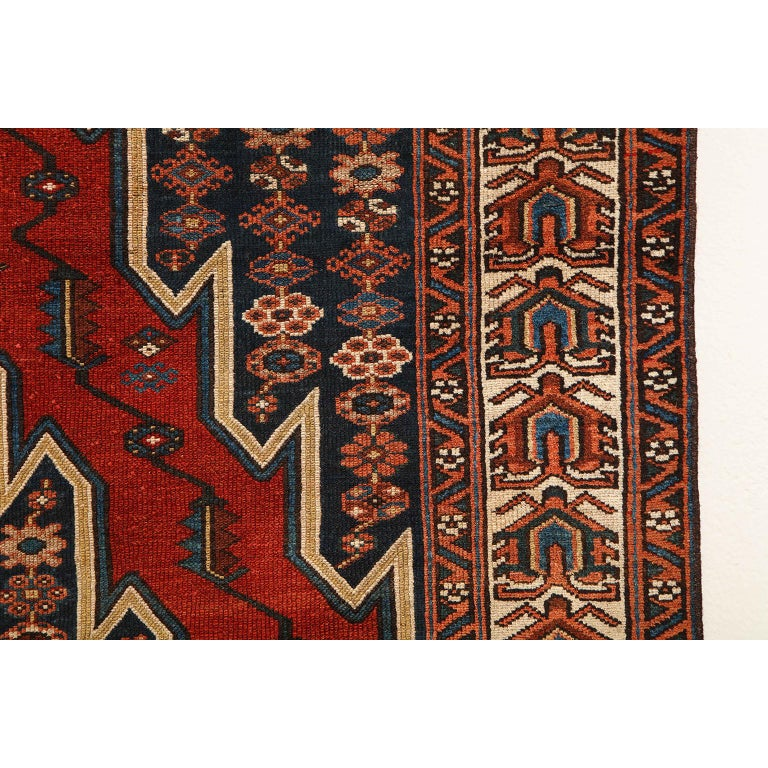 Antique Persian Mazlaghan Carpet in Pure Wool and Vegetable Dyes, circa 1920 For Sale 3