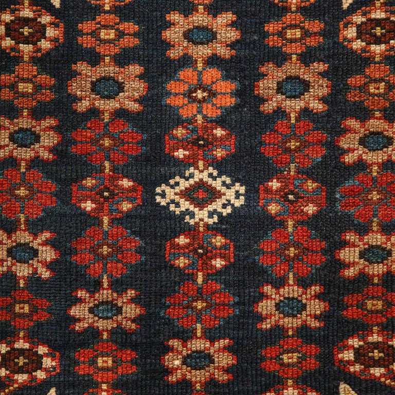 Antique Persian Mazlaghan Carpet in Pure Wool and Vegetable Dyes, circa 1920 For Sale 4