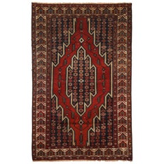 Antique Persian Mazlaghan Carpet in Pure Wool and Vegetable Dyes, circa 1920