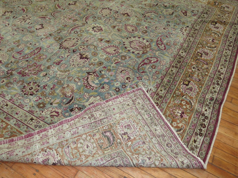 Hand-Woven Antique Persian Meshed Rug For Sale