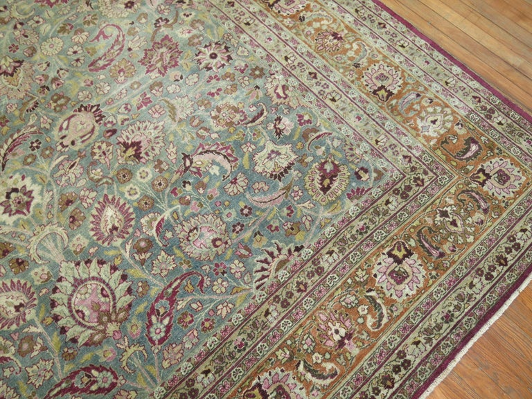 Antique Persian Meshed Rug In Good Condition For Sale In New York, NY