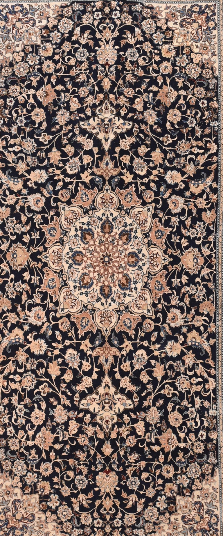 Asian Fine Persian Naeen Area Rug For Sale