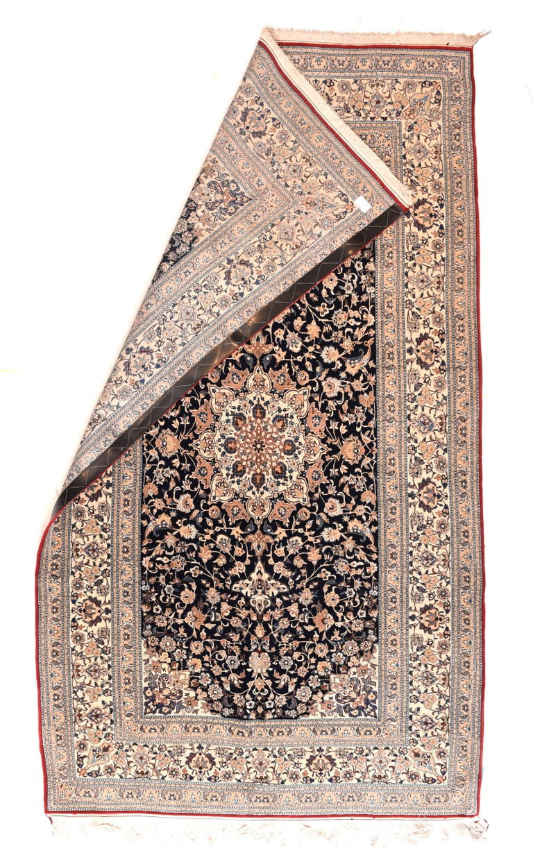 Mid-20th Century Fine Persian Naeen Area Rug For Sale