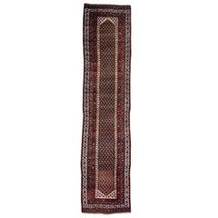Antique Persian Northwest Boteh Design Runner Handmade Rug