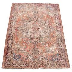 Antique Persian Oriental 100% Wool Heriz Medallion Area Rug Carpet 10.6'