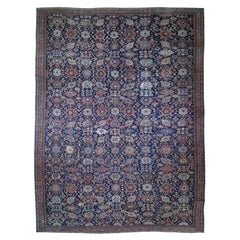 Antique Persian Oversized Mahal Even Wear Pure Wool Hand Knotted Oriental Rug