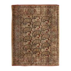 Antique Persian Paisley Kerman Rug