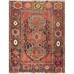 Antique Persian Qashgai Rug, circa 1900 6'11 x 8'11