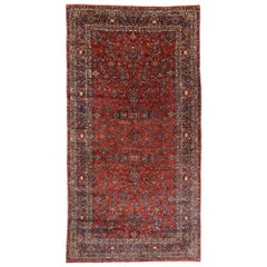Antique Persian Qazvin Palace Rug with English Tudor Style