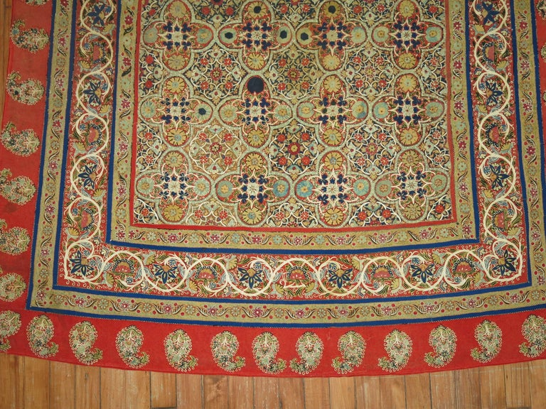 Antique Persian Rashti 'Rascht' Embroidery, 19th Century For Sale 4